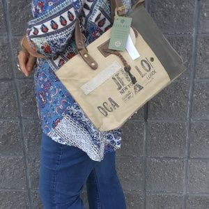 Re-purposed Military Canvas Tote